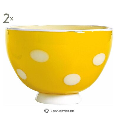 Set of yellow and white bowls (zafferano)