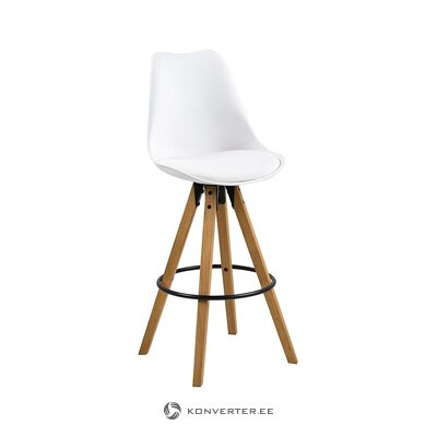 Brown and white bar stool (actona) (whole, hall sample)