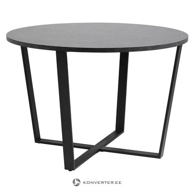 Black marble imitation dining table (actona) (whole, in a box)
