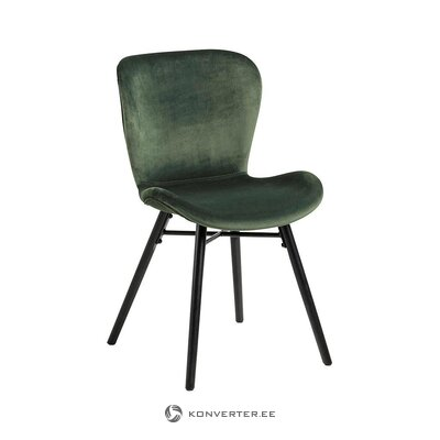 Green-black velvet chair (actona) (whole)
