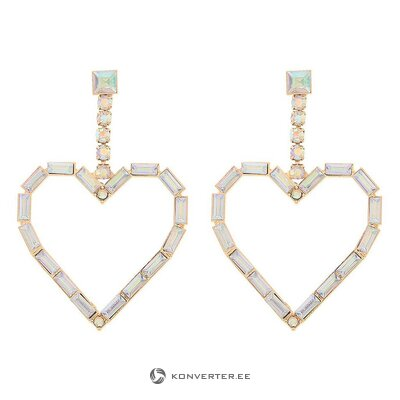 Heart shaped earrings (amrita singh) (whole, in a box)