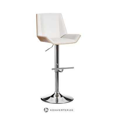 White bar stool (alexandra house) (whole, in box)