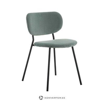Gray-black velvet chair (alexandra house) (whole, in box)
