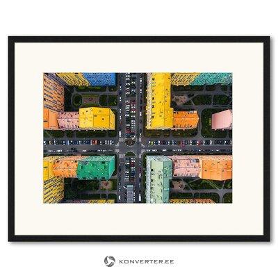 Цветное изображение стены (любое изображение) (целиком, образец зала)