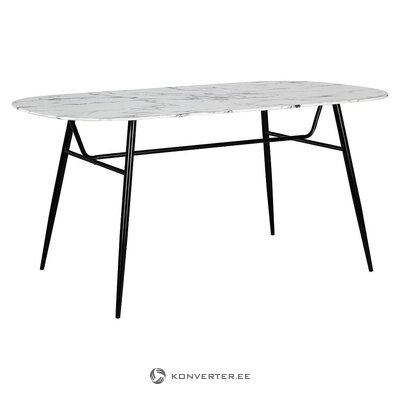 Black and white dining table (bizotto)