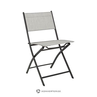 Gray-black folding garden chair (andrea)