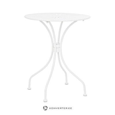 Baltas mažas sodo stalas (bizzotto) (visas, dėžutėje)