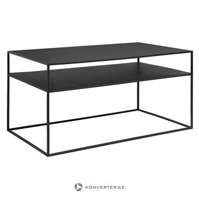 Журнальный столик из черного металла (blomus)
