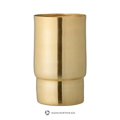 Gold flower vase (bloomingville) (whole, in box)