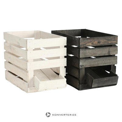Solid wood storage box set