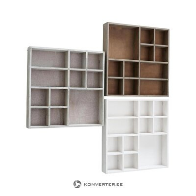 Seinähylly 3-osainen (pultti) (koko, laatikossa)