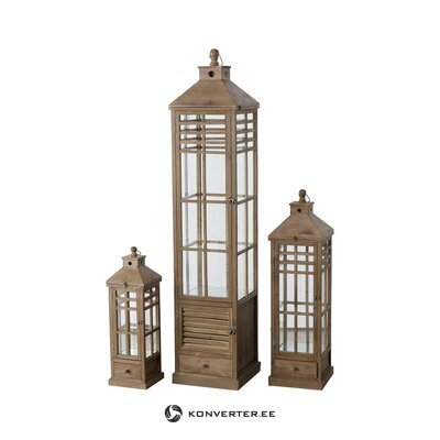 Set of candle lanterns 3-part melanie (boltze) (whole, hall sample)