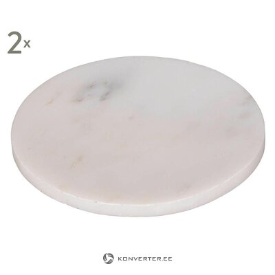 Marble decorative plates (2pcs) (copenhagen) (whole, in a box)