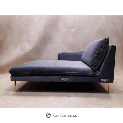 Gray velvet sofa part (besolux) (whole, hall sample)