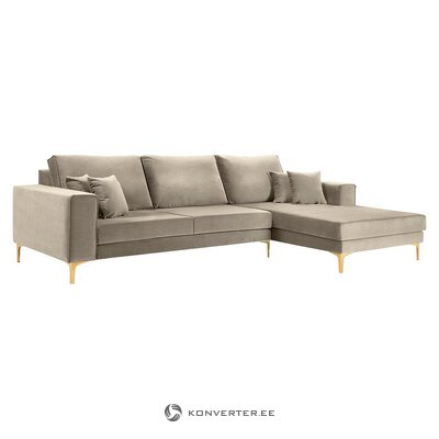 Gray corner sofa (basel) (besolux) (with flaws., Hall sample)
