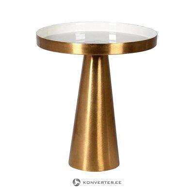 Золотисто-белый журнальный столик (каретный двор) (целиком, в коробке)