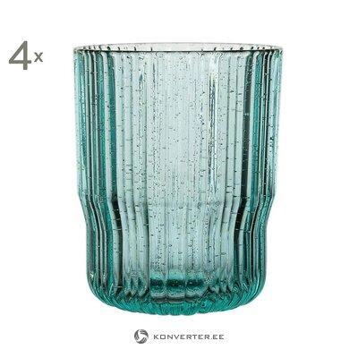 Green drinking glass set (4pcs) (yliades) (whole, in box)
