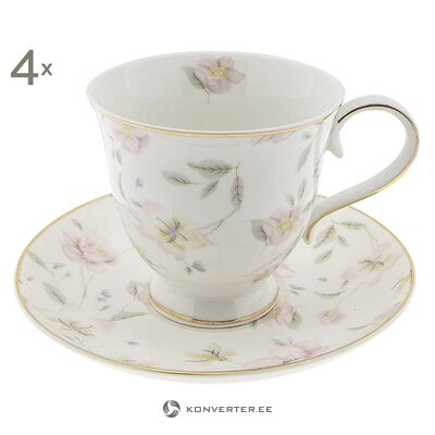 Cup and saucer set (4pcs)