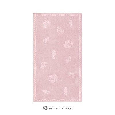 Pink beach towel (wholehorse) (whole, in a box)