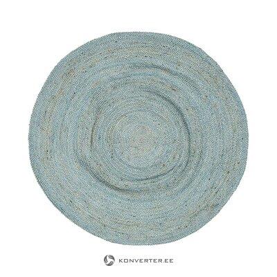 Gaiši zils apaļais paklājs (astoņi noskaņojumi) (kastē, vesels)