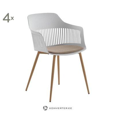 Brūns un balts krēsls (gabarīts)