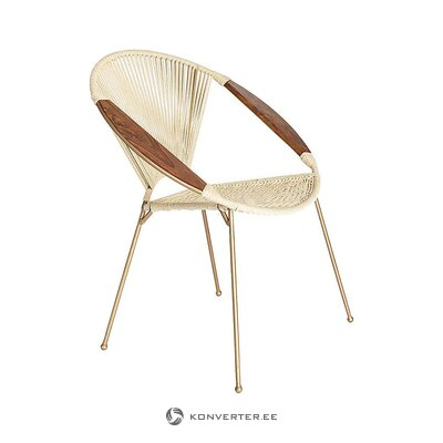 Beige-gold design chair (simla home decoration) (in box, whole)