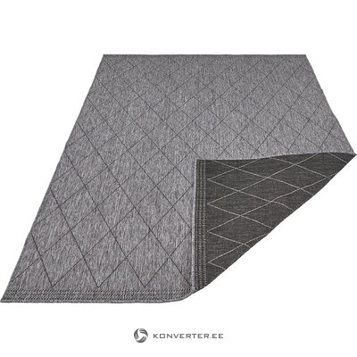 Black / anthracite reversible carpet (daisy) (whole, in box)