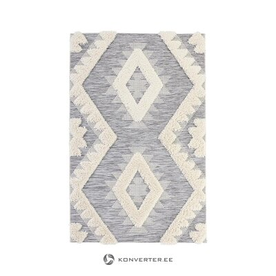 Gray-white patterned carpet (mint rugs) (in box, whole)