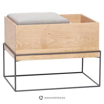 Design bench with storage (hübsch) (whole, in a box)