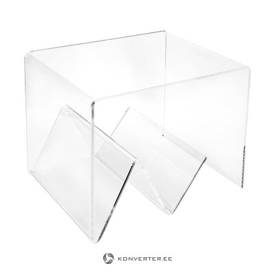 Transparent coffee table (iplex) (whole, hall sample)