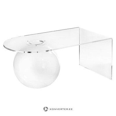 Dizaina kafijas galdiņš (iplex dizains) (neskarts, zāles paraugs)