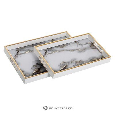 Tray set 2-piece (ixia) (whole, hall sample)
