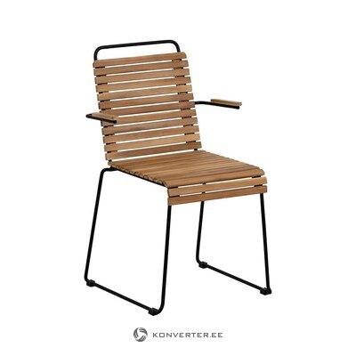 Коричневый садовый стул (юкари) (здоровый, в коробке)
