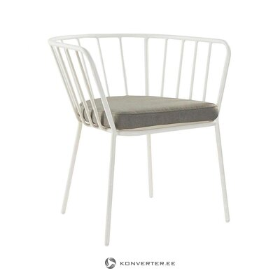 White garden chair (jotex) (whole, in box)