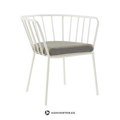 White garden chair (jotex) (healthy, sample)