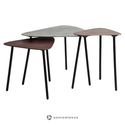 Dīvānu galdu komplekts 3 gab. (Rupjš dizains) (vesels, kastē)