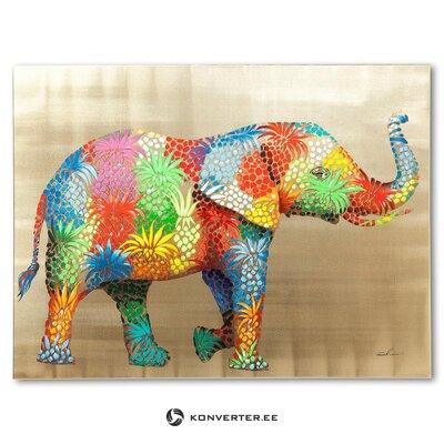 Mural elephant (rough design) (healthy hall sample)