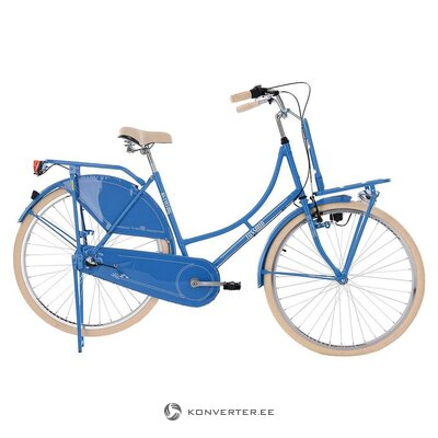 Beige-blue women's bicycle (see cycling)