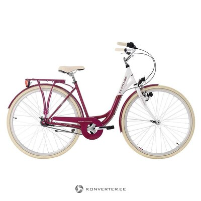 White-red women's bicycle (see cycling)