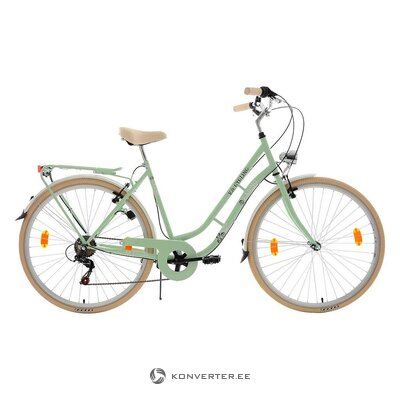 Beige-green women's bicycle (see cycling)