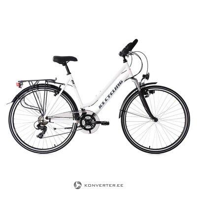 Must-Valge Naiste Jalgratas (KS Cycling) (Terve, Saalinäidis)