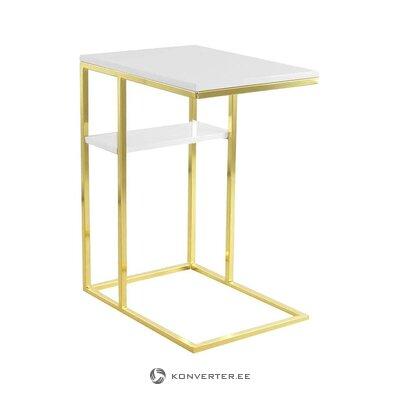 Baltā zelta kafijas galdiņš (lalee) (ar skaistuma defektiem., Hall paraugs)