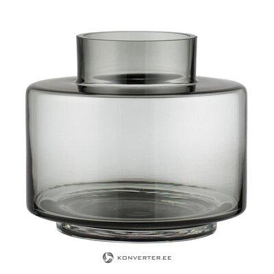 Gray glass flower vase (lene bjerre) (whole, in a box)