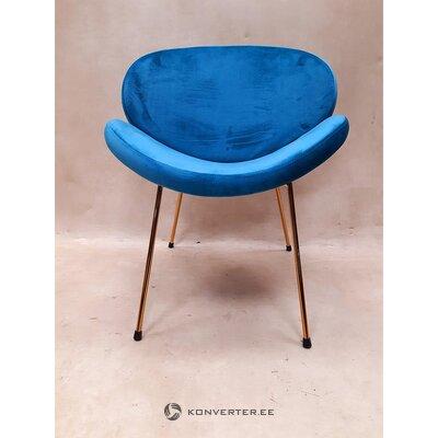Mėlyno aukso dizaino kėdė (visa, salės pavyzdys)