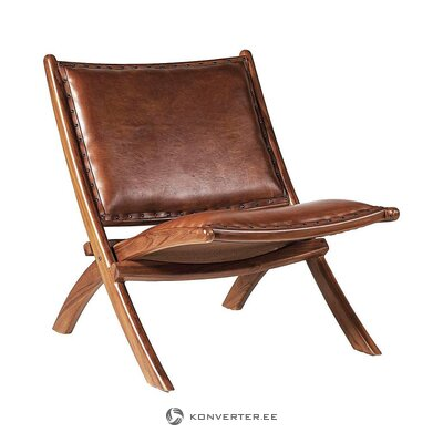 Brown leather chair (moycor) (whole, in box)
