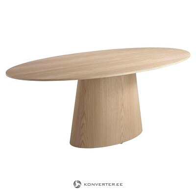 Walnut oval dining table (ángel cerdá)