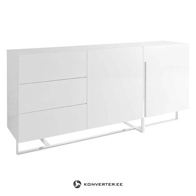 White high-gloss chest of drawers (carla) (with defect ,, hall sample)