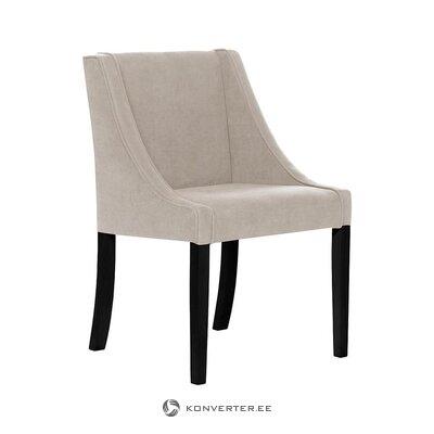 Melni pelēks samta krēsls (sols un bergs) (vesels, kastē)