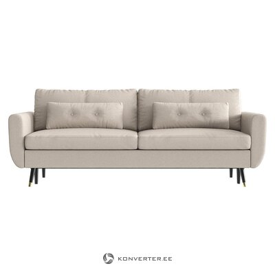 Beige-gray sofa bed (bench & berg) (whole, in box)