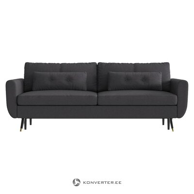 Dark gray sofa bed (bench & berg) (whole)